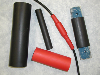 Shrink over terminals for insulation and strain relief.